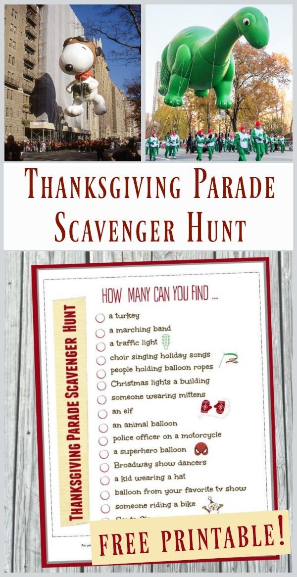 Scavenger hunt Thanksgiving