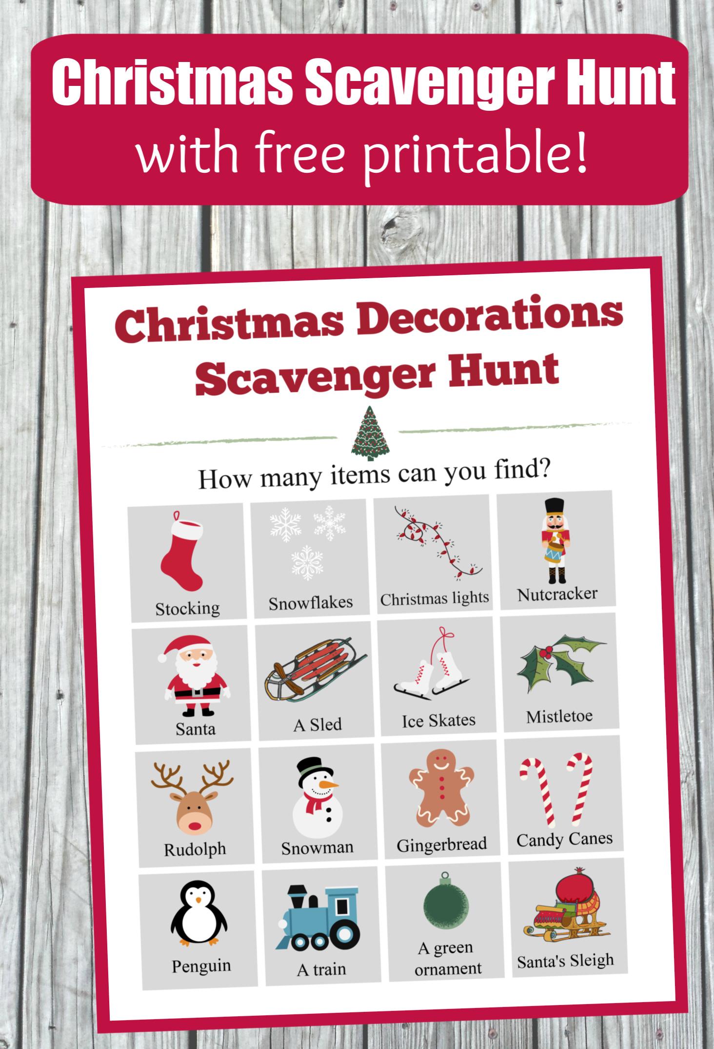 Free Printable Christmas Scavenger Hunt Edventures With Kids
