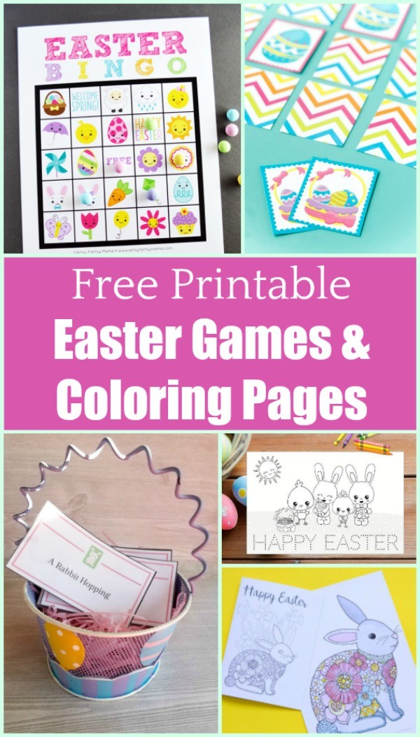 free printable easter games and activities