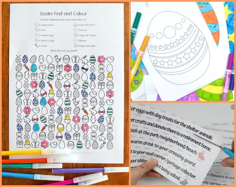 Free printable Easter games for kids and adults