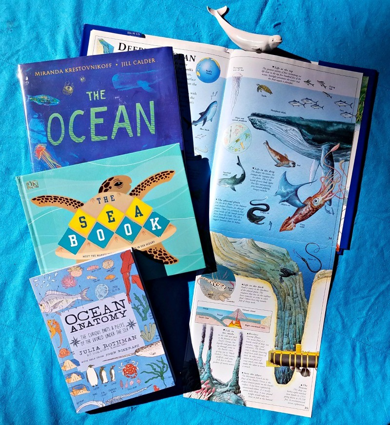 Children's books about ocean zones, marine animals and sea life