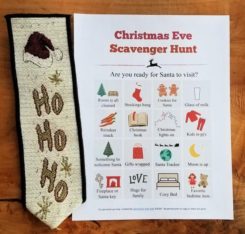 Free printable Christmas Eve Scavenger Hunt