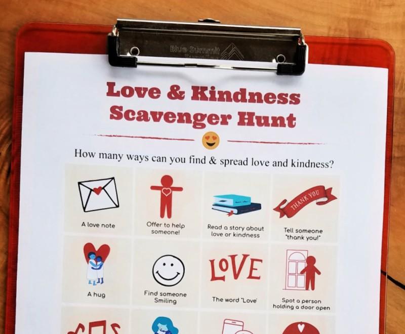 Printable Kindness Scavenger Hunt
