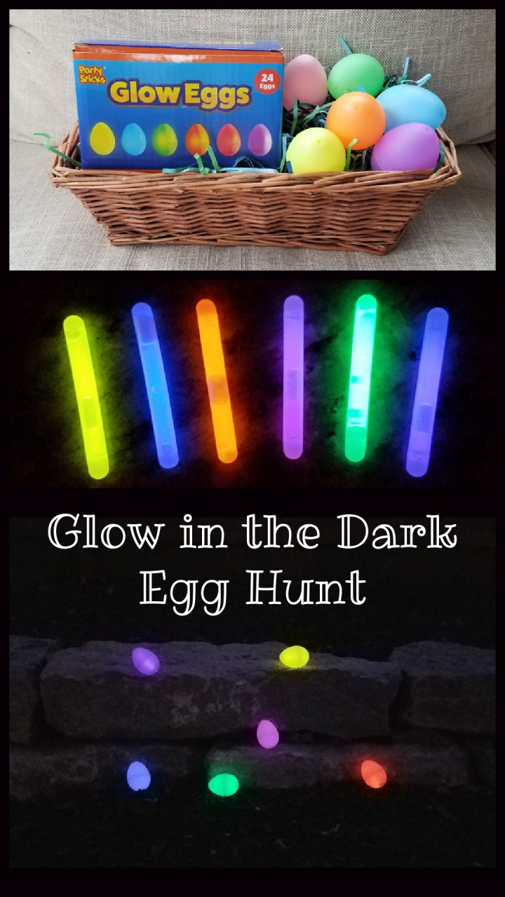 Easter egg hunt glow in the dark