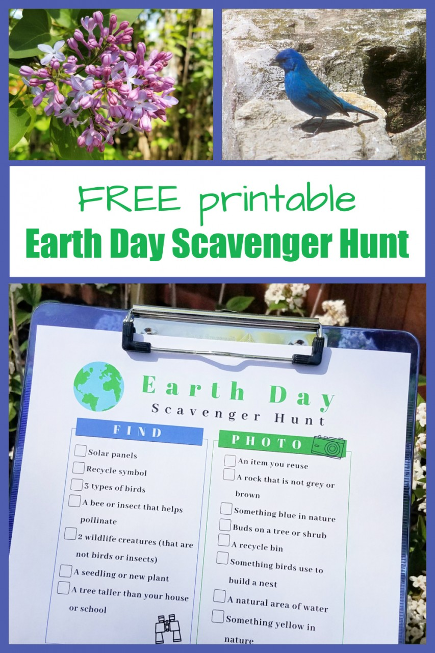 Earth Day Scavenger Hunt free printable pdf