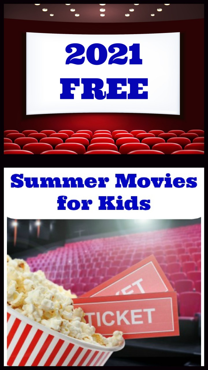 2021 Summer Movies for kids at theaters