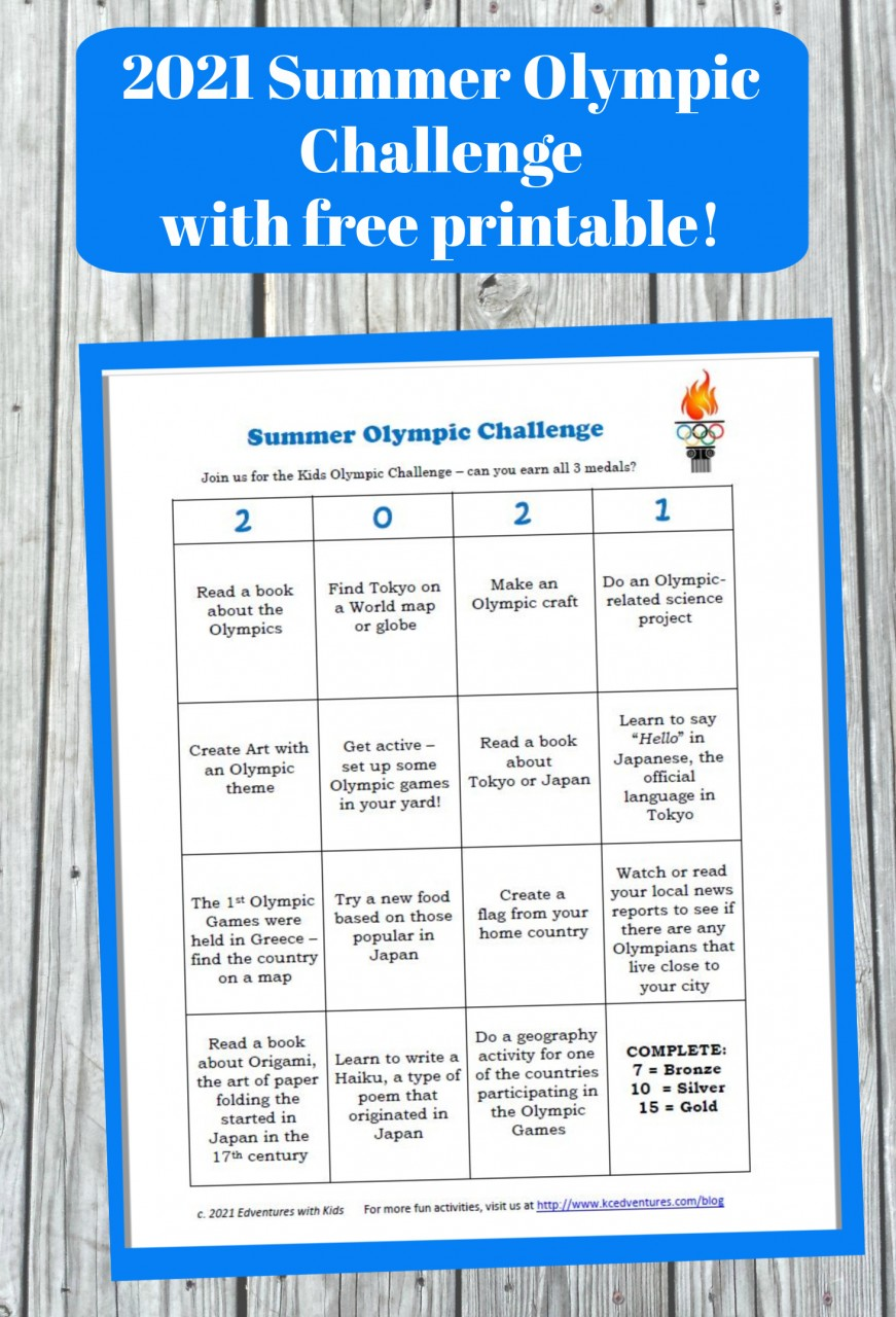 Summer olympics - free printable activities for kids