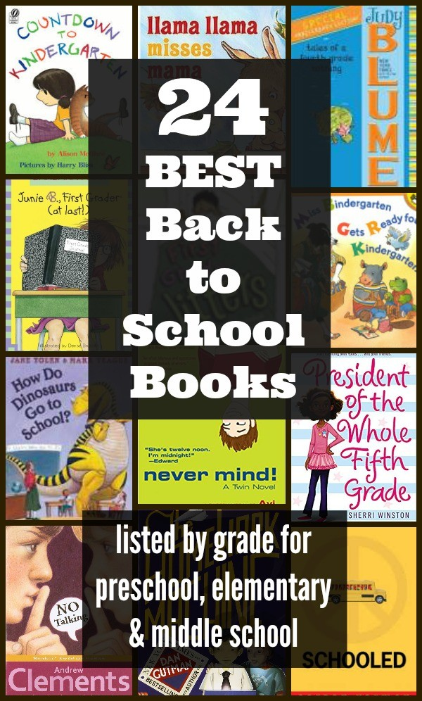 Books to read for First Day of School or Back to School - preschool, kindergarten, 1st, 2nd, 3rd, 4th, 5th and 6th grade