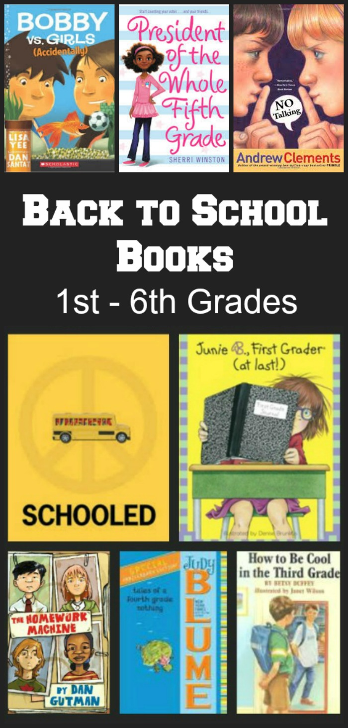 Back to School books for 1st, 2nd, 3rd, 4th, 5th and middle school
