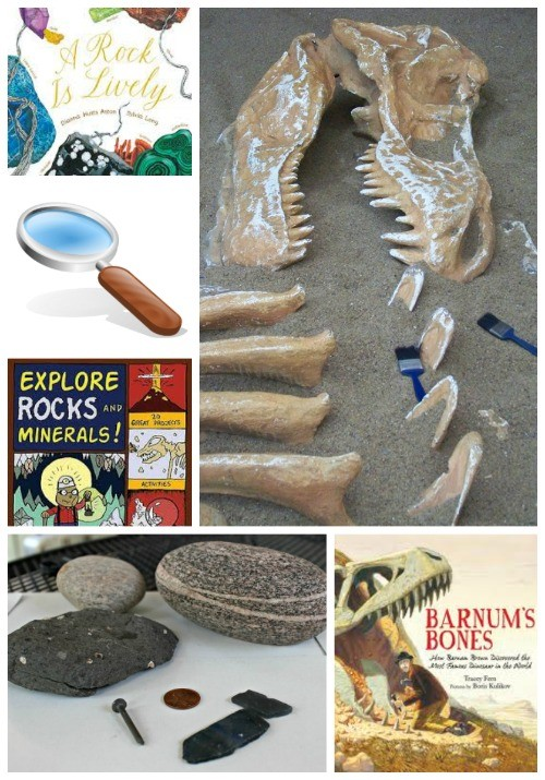 Volcanoes, Rocks & Fossils:  Books and Activities for Kids