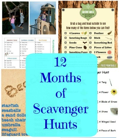 50+ FREE Scavenger Hunts for Kids {with free printable lists}