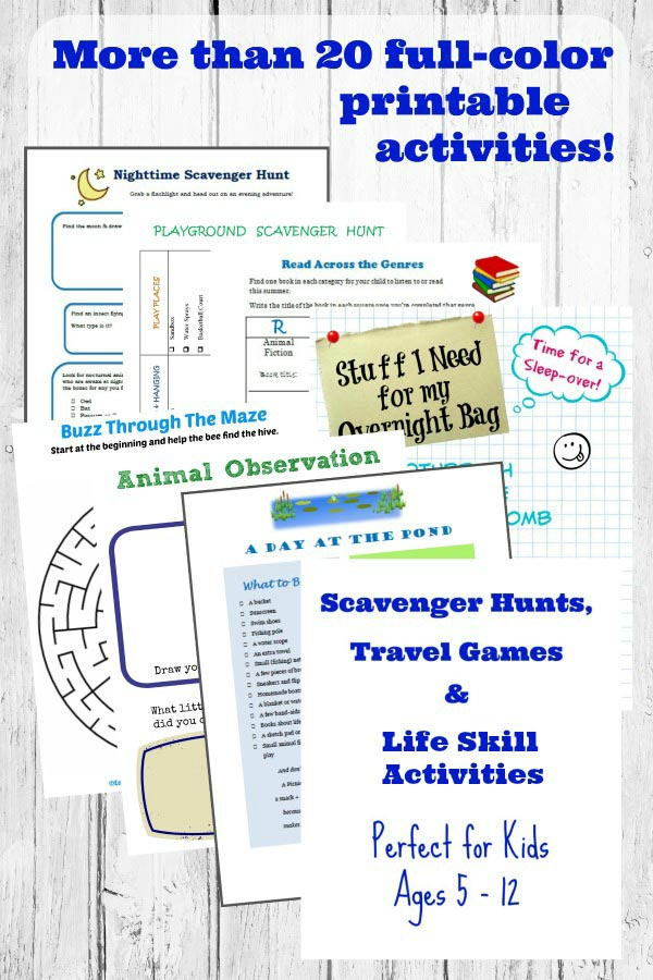 things to do with the kids this summer -- scavenger hunts, car games and more!