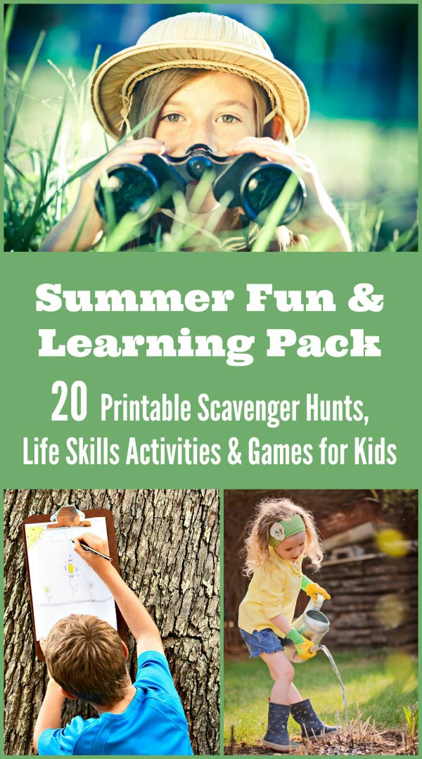 20 Awesome printable scavenger hunts, travel games and learning activities that are perfect for summer!