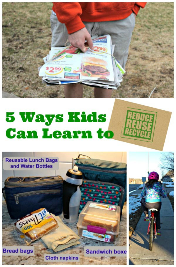 teaching kids to reduce, reuse & recycle
