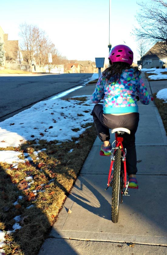 Walk or bike to school to save gas