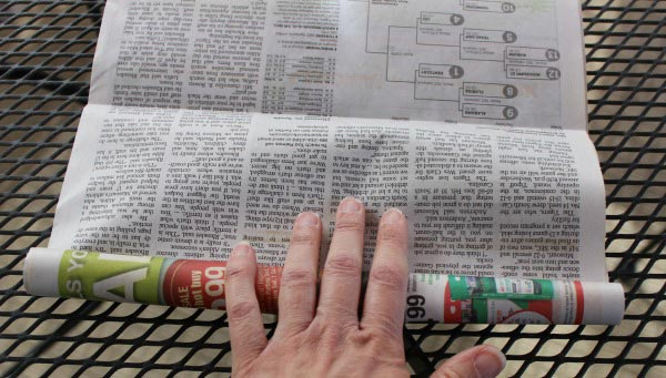 engineering with newspaper