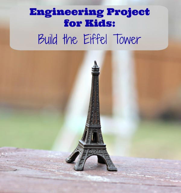 How to build the Eiffel Tower craft project using newspapers