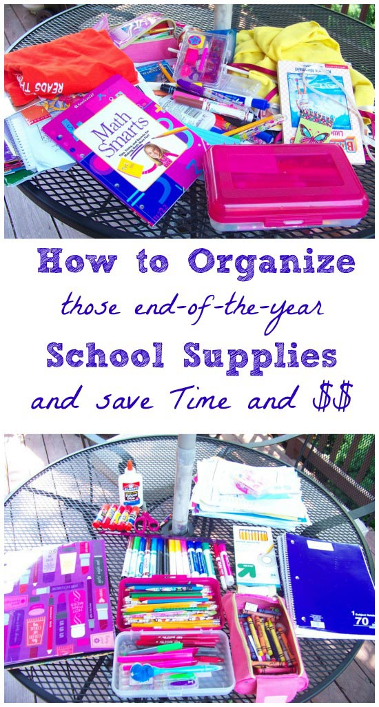 recycle end of the year school supplies