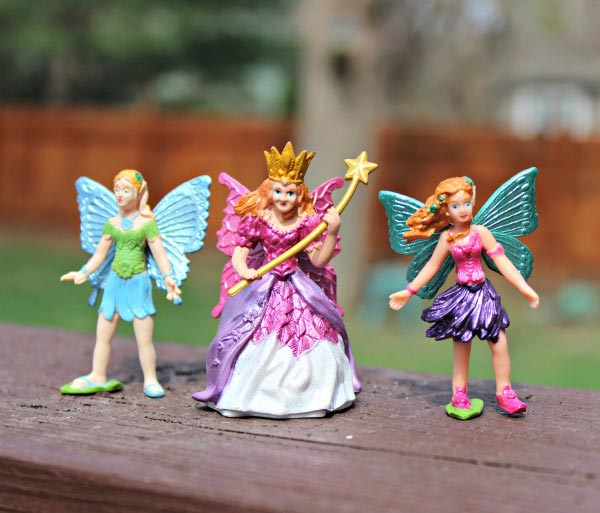 Fairies in a Fairy Garden