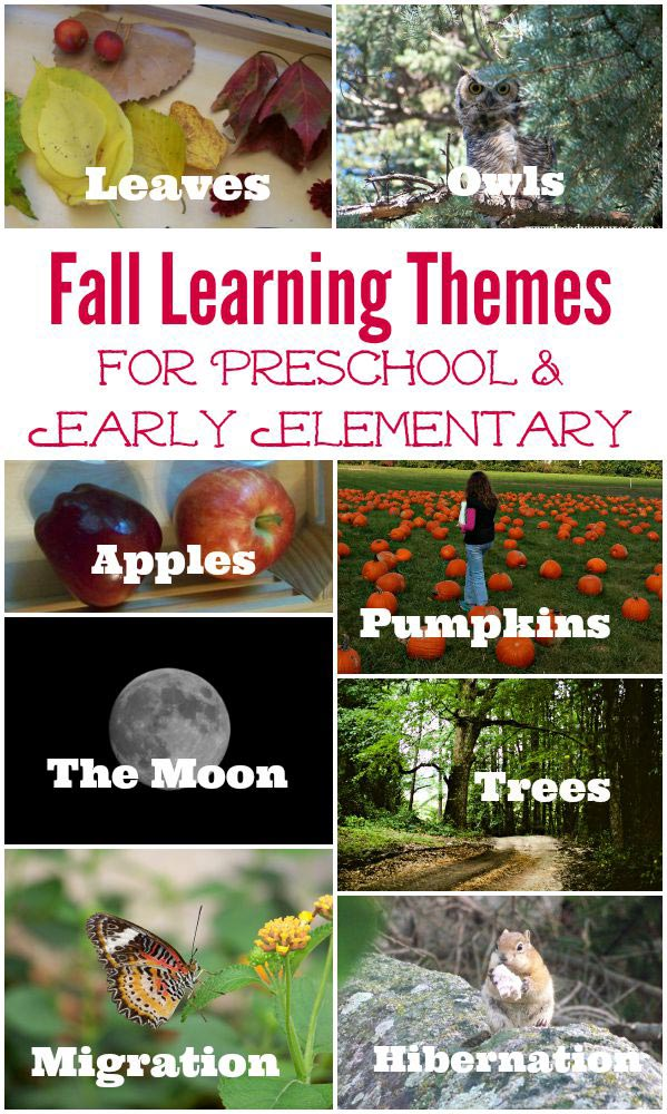preschool learning themes for fall