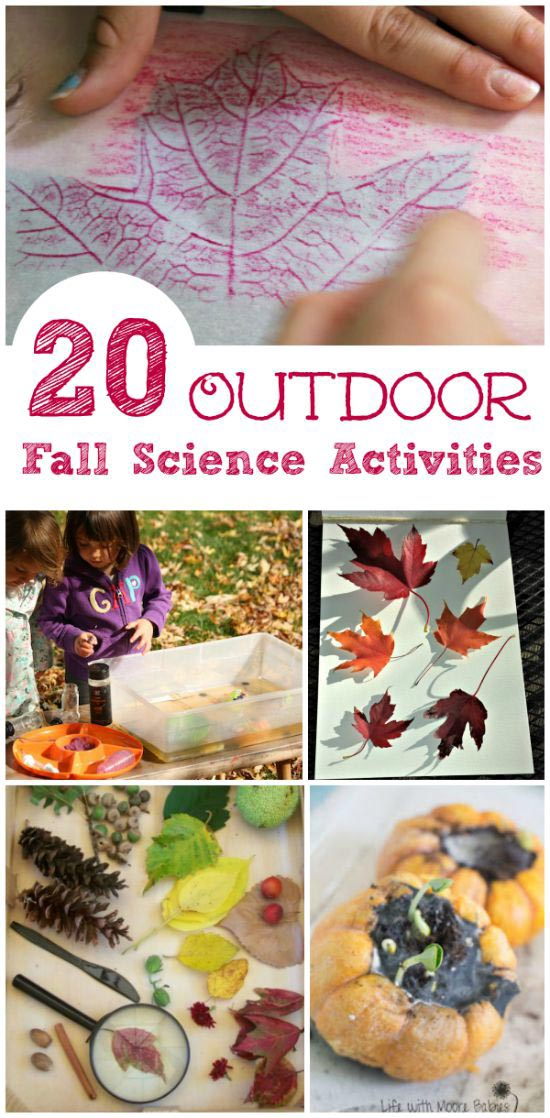 Easy Fall science experiments and activities for preschoolers, kindergarten and elementary age kids