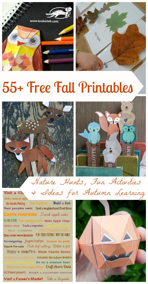 Free Printables for Autumn
