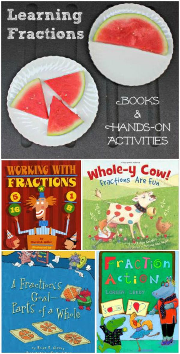 fraction books and activities for kids