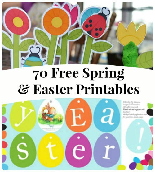Free Spring & Easter printable activities