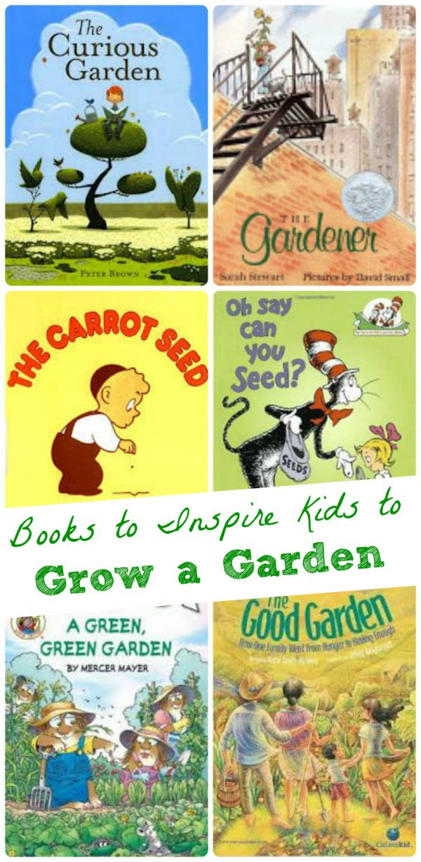 Kids books about gardening with 50+ garden activities