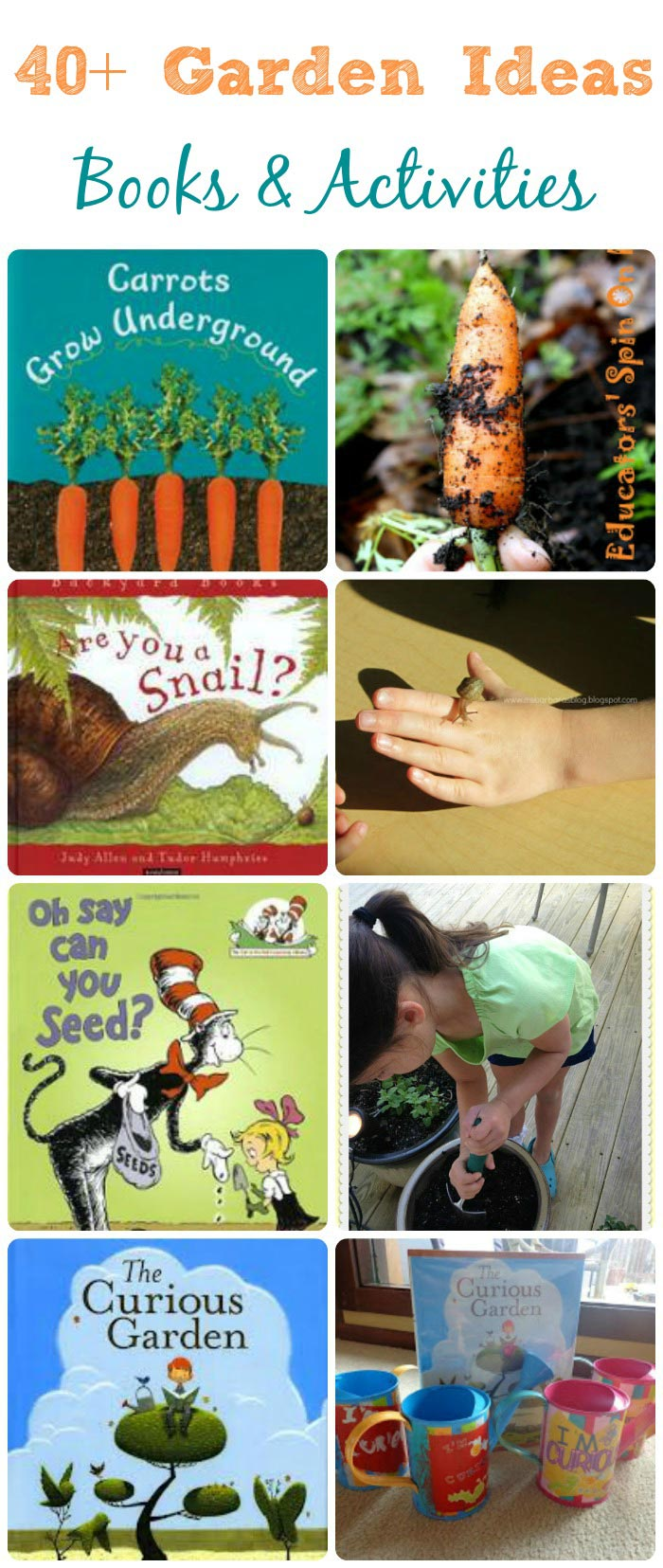 Garden books & activities for kids