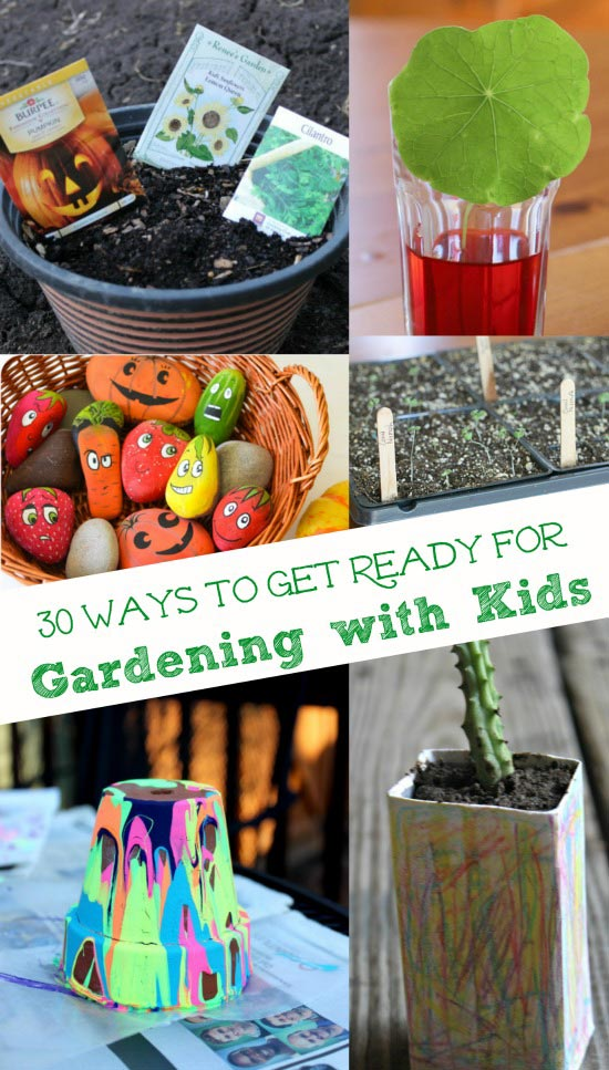 Easy Gardening crafts and ideas for preschool and elementary kids!