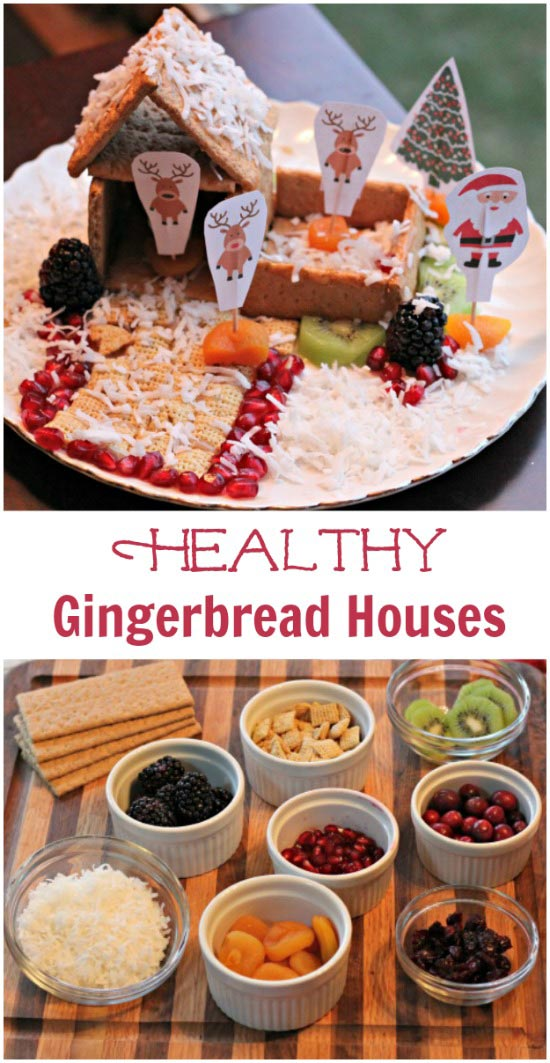 healthy gingerbread houses