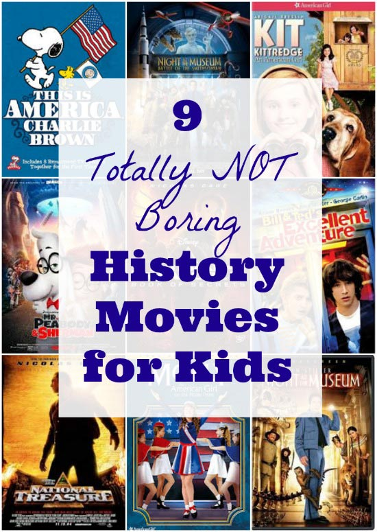 Great history movies for kids in elementary and middle school