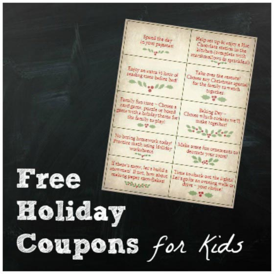 holiday coupons for kids