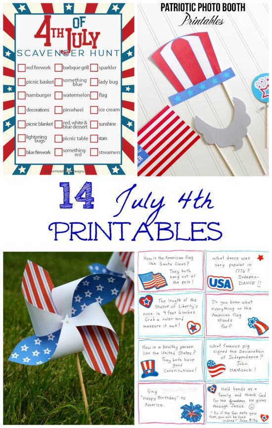 4th of July printable activities for after dark