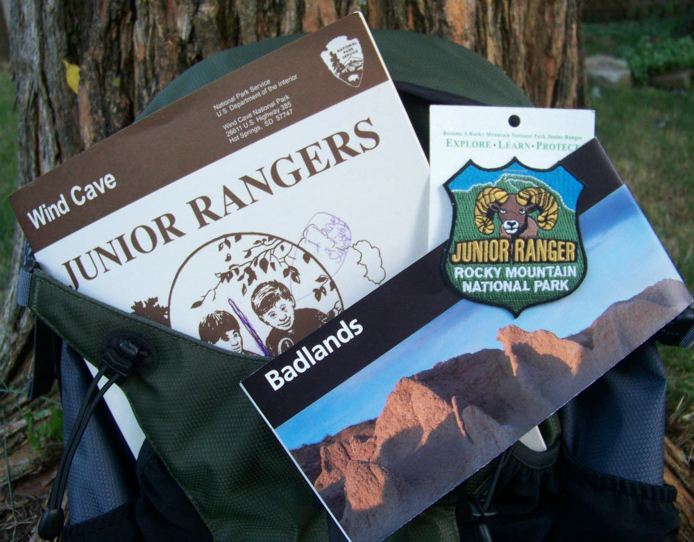 National Parks activities for kids - Junior Ranger programs