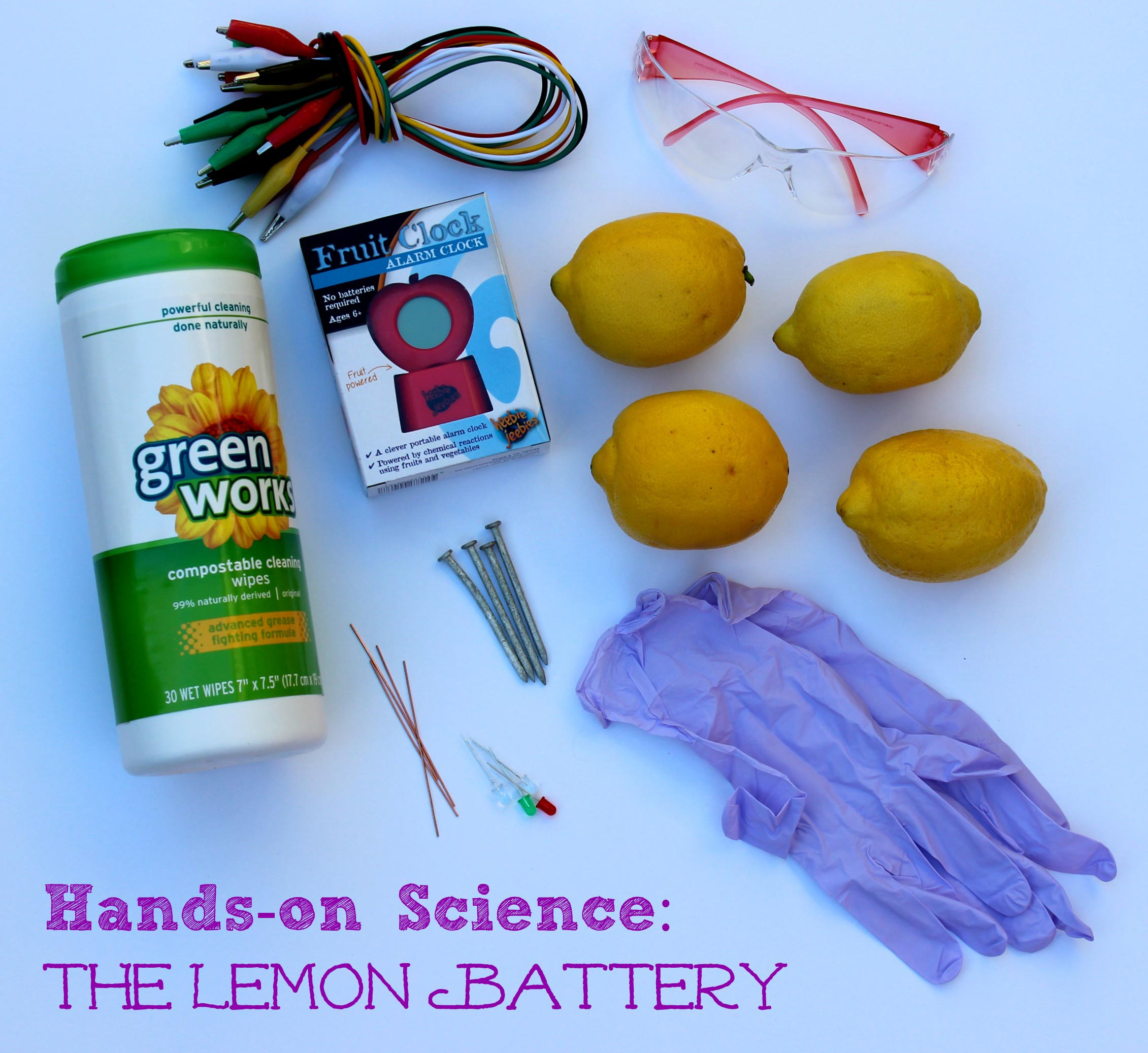 easy science for kids: lemon battery