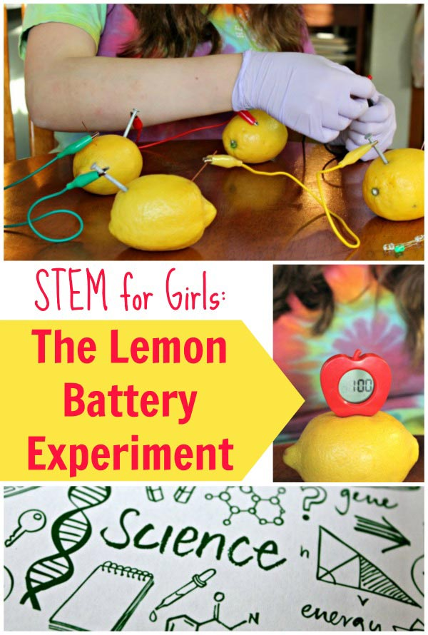 easy science for kids: lemon battery experiment