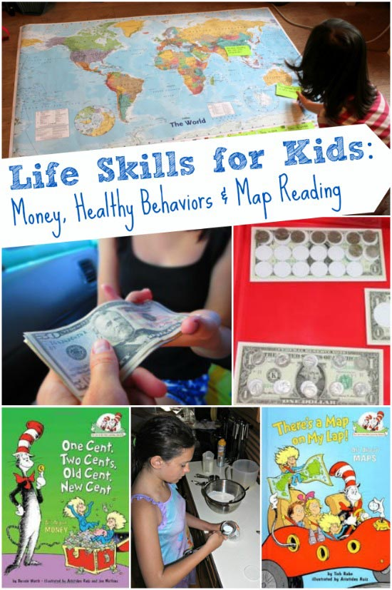 Money games, maps skills and healthy eating for kids