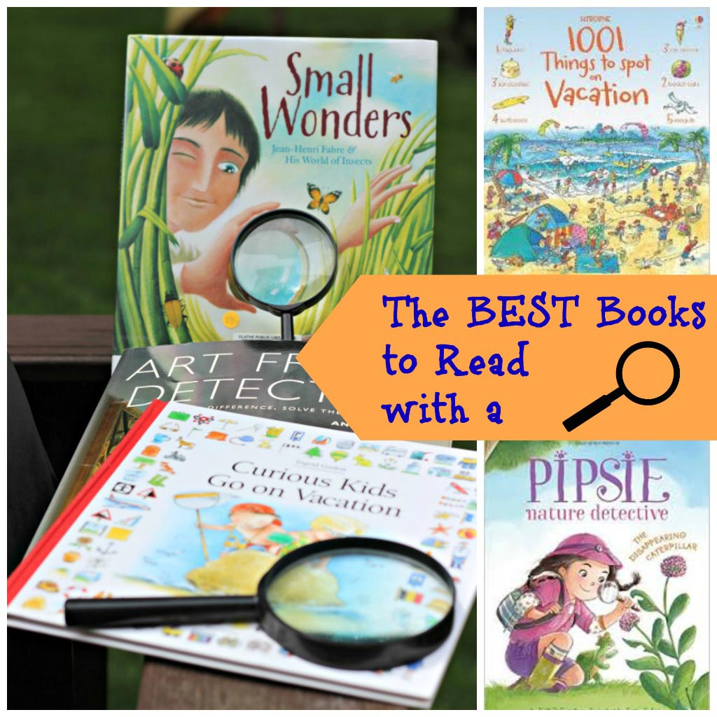 Great books for kids to read using a magnifying glass!