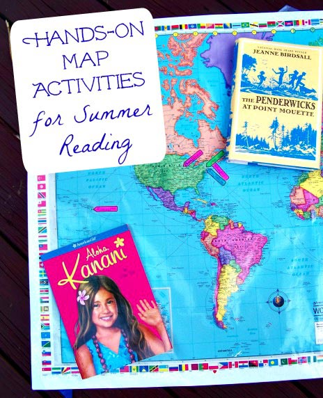 Learning maps and geograpy by using books kids read