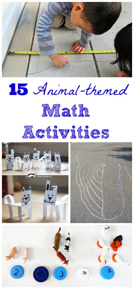 FUN Math activities with animals for preschool, kindergarten and elementary students