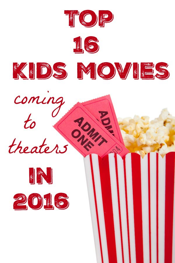 new kids movies in theaters for 2016