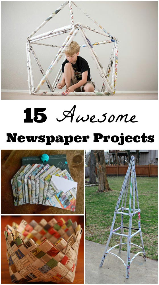 things to make using newspaper