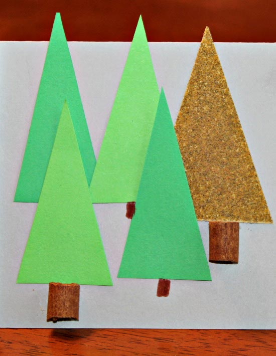 Forest themed placecards for the holiday table