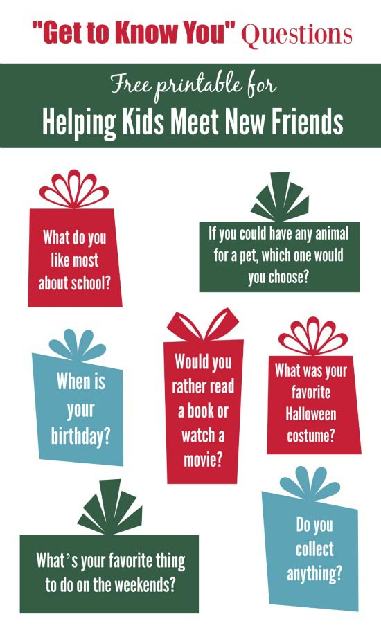 meeting new friends - questions for getting to know each other