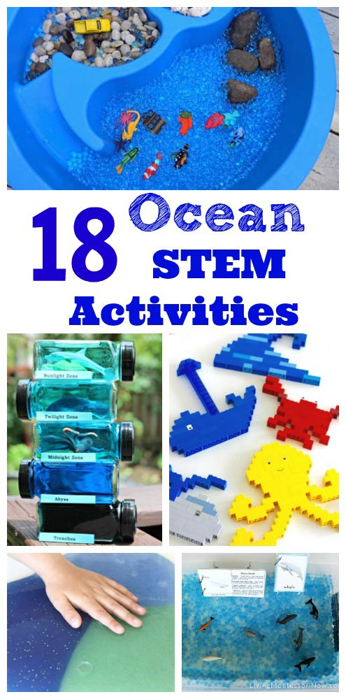 ocean STEM projects and activities for preschool, kindergarten and elementary kids