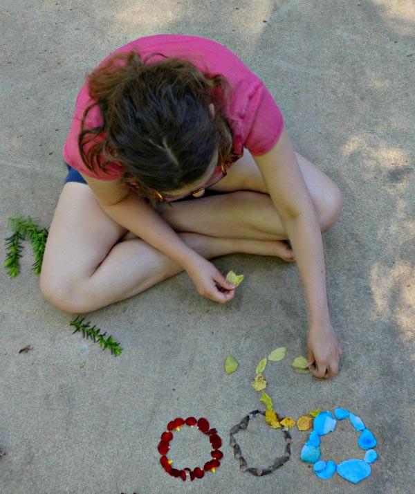 Olympic themed craft for kids using nature items