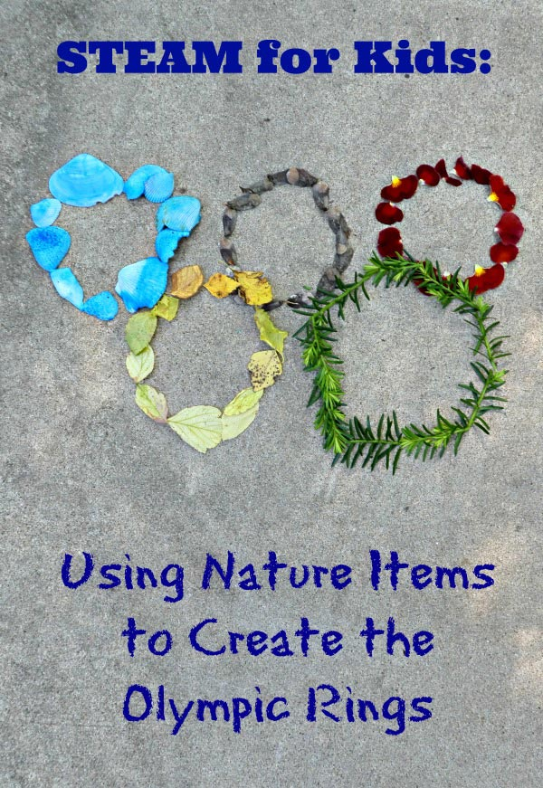 Summer Olympics activities for kids - nature art project