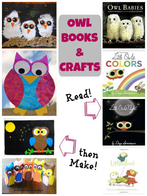 Owl books and crafts for kids to make together